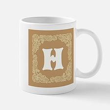 Beige Personalized Monogram Initial Mugs