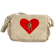 Wirehaired Vizsla Heart Messenger Bag
