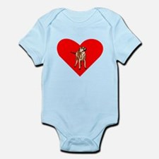 Wirehaired Vizsla Heart Body Suit