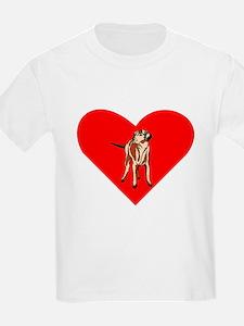 Wirehaired Vizsla Heart T-Shirt