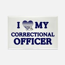 Love Correctional Officer Rectangle Magnet