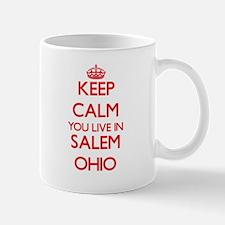 Keep calm you live in Salem Ohio Mugs