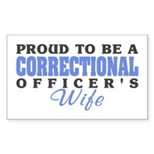 Correctional Officers Wife Rectangle Decal