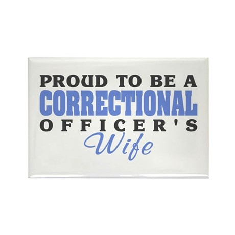 Correctional Officers Wife Rectangle Magnet