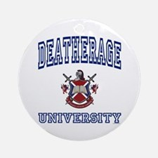 DEATHERAGE University Ornament (Round)