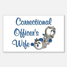 Blue Rose Corrections Rectangle Decal