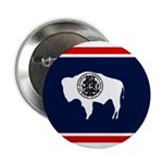 Wyoming State Flag on Button