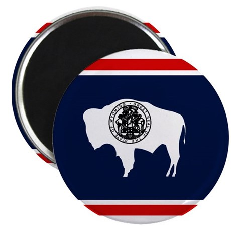 """Wyoming State Flag on 2.25"""" Magnet (10 pack)"""