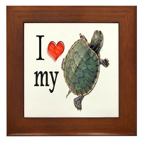 Luv My Turtle II Framed Tile