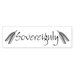 Sovereignty White Bumper Bumper Sticker