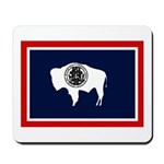 Wyoming State Flag on Mousepad