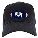 Wyoming State Flag on Black Cap