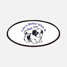 BETTER WITH SHIH TZU Patches