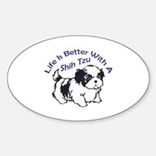 BETTER WITH SHIH TZU Decal