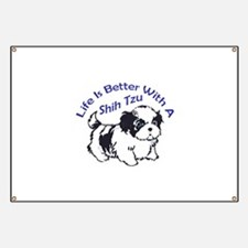 BETTER WITH SHIH TZU Banner