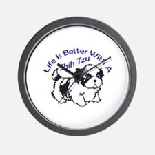 BETTER WITH SHIH TZU Wall Clock