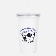 BETTER WITH SHIH TZU Acrylic Double-wall Tumbler