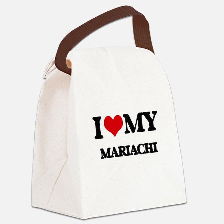 I Love My MARIACHI Canvas Lunch Bag