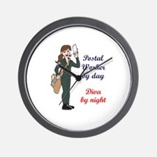 POSTAL WORKER BY DAY Wall Clock