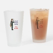 POSTAL WORKER BY DAY Drinking Glass