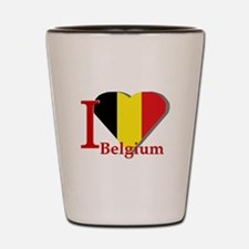 I love Belgium Shot Glass