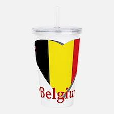 I Love Belgium Acrylic Double-Wall Tumbler