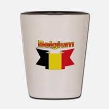 Belgian flag ribbon Shot Glass