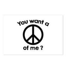 You Want A Peace Of Me? Postcards (Package of 8)