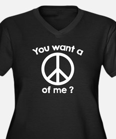 You Want A Peace Of Me? Women's Plus Size V-Neck D