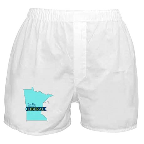 True Blue Minnesota LIBERAL Boxer Shorts