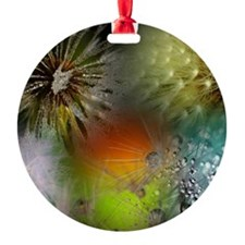 Unique Dandelion seeds blowing in the wind Ornament