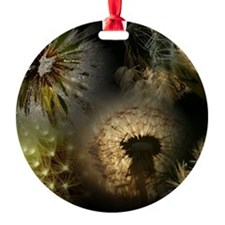 Funny Dandelion seeds blowing in the wind Ornament
