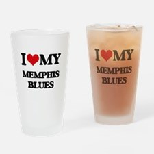 I Love My MEMPHIS BLUES Drinking Glass