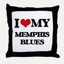I Love My MEMPHIS BLUES Throw Pillow