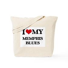 I Love My MEMPHIS BLUES Tote Bag