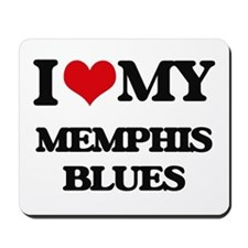 I Love My MEMPHIS BLUES Mousepad
