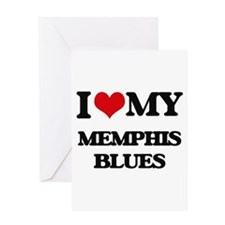 I Love My MEMPHIS BLUES Greeting Cards