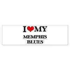 I Love My MEMPHIS BLUES Bumper Bumper Sticker