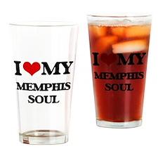 I Love My MEMPHIS SOUL Drinking Glass