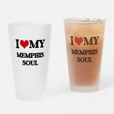 I Love My MEMPHIS SOUL Drinking Glass