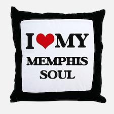 I Love My MEMPHIS SOUL Throw Pillow