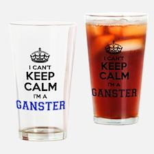 Cool Ganster Drinking Glass