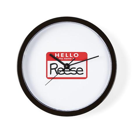 Hello Reese Wall Clock