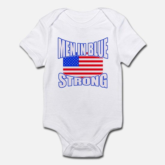 Men in blue strong. Infant Bodysuit