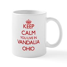 Keep calm you live in Vandalia Ohio Mugs