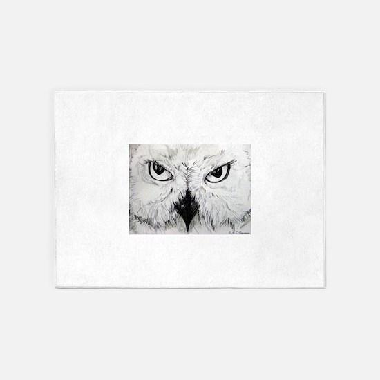 Owl! Wildlife, bird art! 5'x7'Area Rug