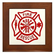 Maltese Cross Framed Tile