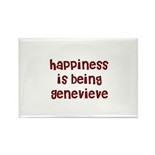 happiness is being Genevieve Rectangle Magnet