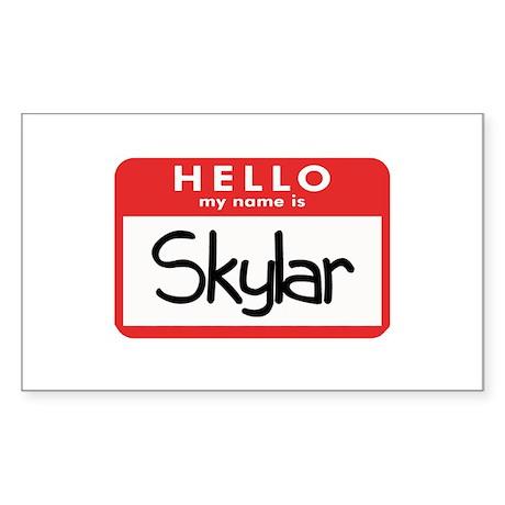 Hello Skyler Rectangle Sticker