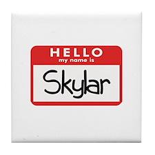 Hello Skyler Tile Coaster